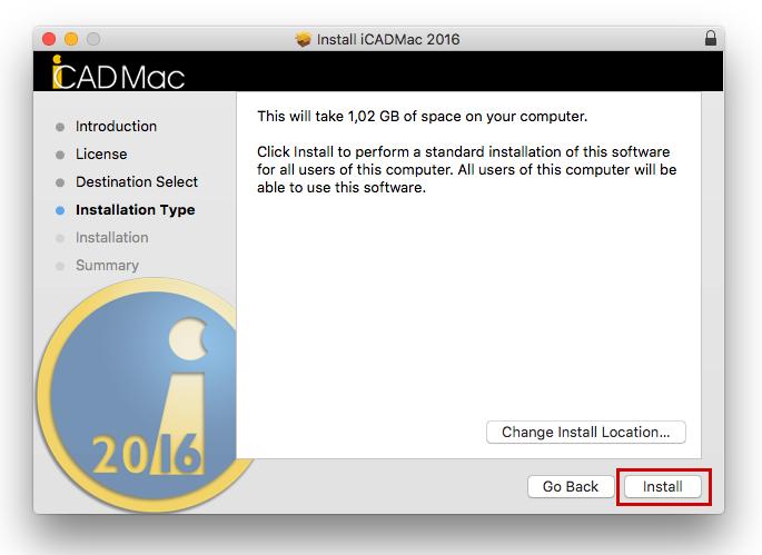 Instalace iCADMac